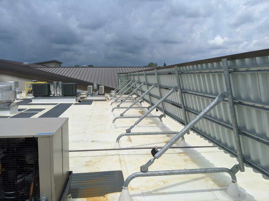 Sloped Rooftop Equipment Screen on TPO Roof