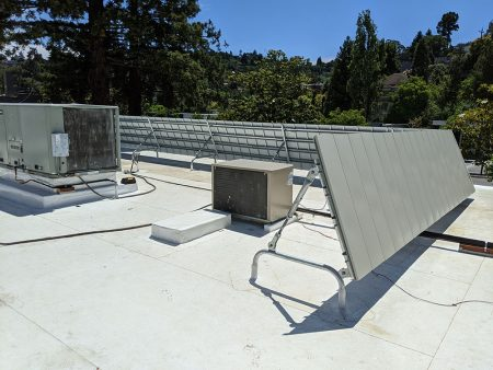 Cascade's Mechanical Screen in Mill Valley, California on a PVC Roof