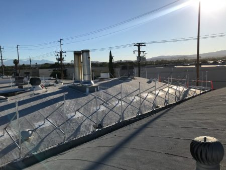 cascade rooftop screens simple-frames on barrel roof