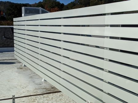 Louvered Equipment Screen in Walnut Creek, California
