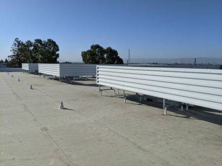 Cascade's Rooftop Screen on PVC Roof in Fremont, California