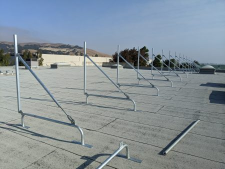 cascade rooftop screens simple-frames on sloped roof